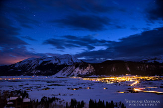 Crested Butte, Colorado at Twilight